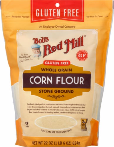 Bob's Red Mill Gluten Free Whole Grain Corn Flour Perspective: front