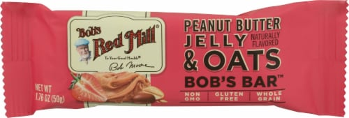 Bob's Red Mill Peanut Butter Jelly and Oats Bar Perspective: front