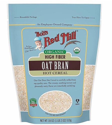 Bob's Red Mill Organic Oat Bran Hot Cereal Perspective: front