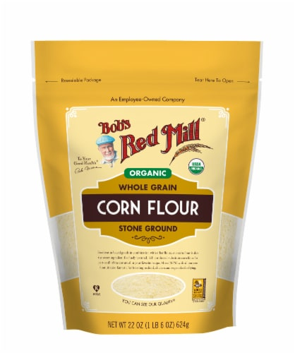 Bob's Red Mill® Organic Whole Grain Stone Ground Corn Flour Perspective: front