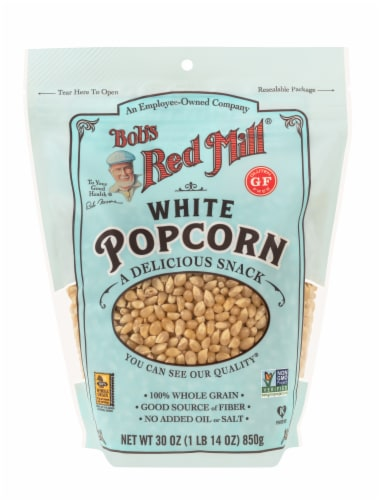 Bob's Red Mill White Popcorn Kernels Perspective: front