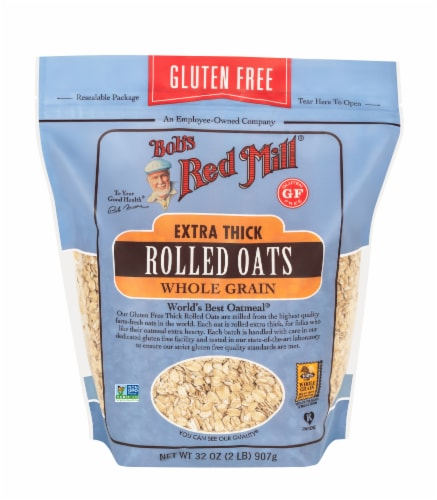 Bob's Red Mill Thick Rolled Oats Perspective: front