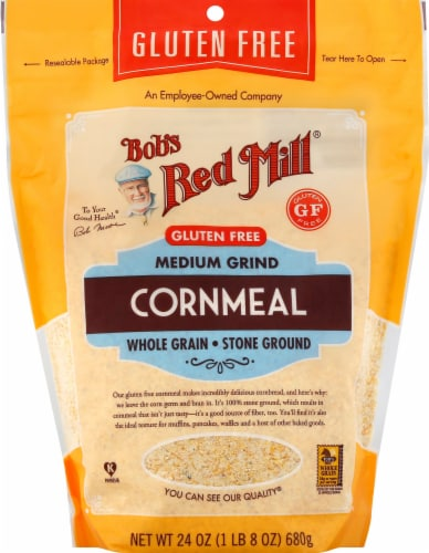 Bob's Red Mill Gluten Free Medium Grind Cornmeal Perspective: front