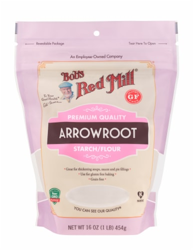 Bob's Red Mill Arrowroot Starch Flour Perspective: front