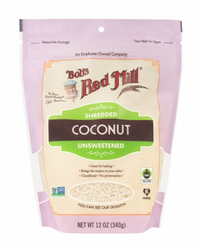 Bob's Red Mill Unsweetened Shredded Coconut Perspective: front
