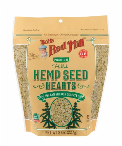 Bob's Red Mill Premium Hulled Hemp Seed Hearts Perspective: front