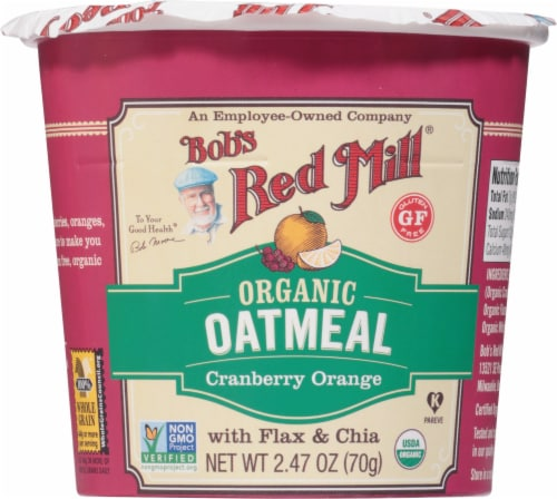 Bob's Red Mill Organic Cranberry Orange Oatmeal Perspective: front