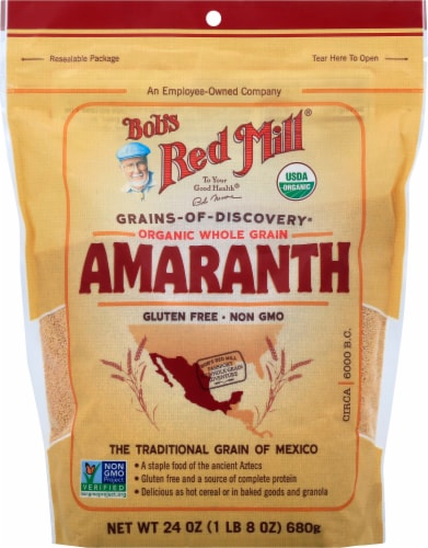 Bob's Red Mill Organic Whole Grain Amaranth Perspective: front