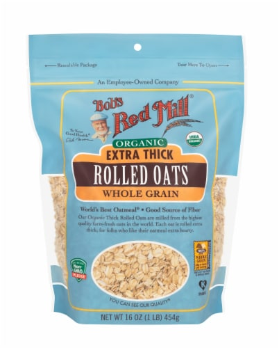Bob's Red Mill Organic Thick Rolled Oats Perspective: front