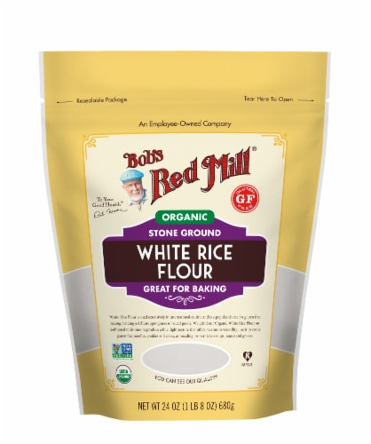 Bob's Red Mill Organic White Rice Flour Perspective: front