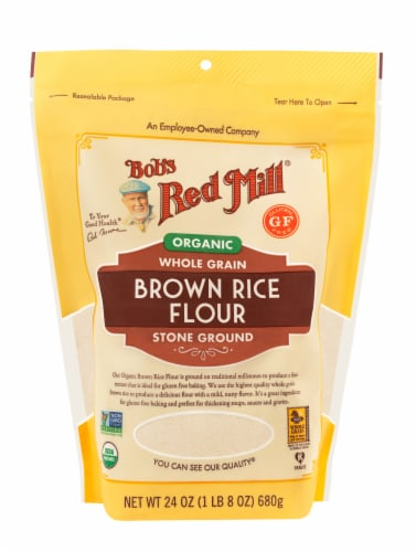 Bob's Red Mill Organic Brown Rice Flour Perspective: front