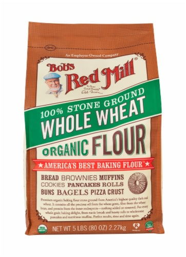 Bob's Red Mill Organic 100% Stone Ground Whole Wheat Flour Perspective: front