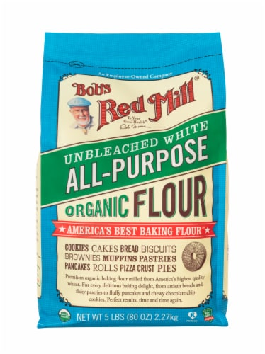Bob's Red Mill Organic Unbleached White All-Purpose Flour Perspective: front