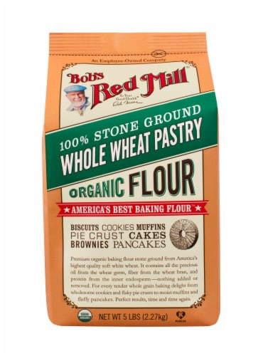 Bob's Red Mill Organic Whole Wheat Pastry Flour Perspective: front