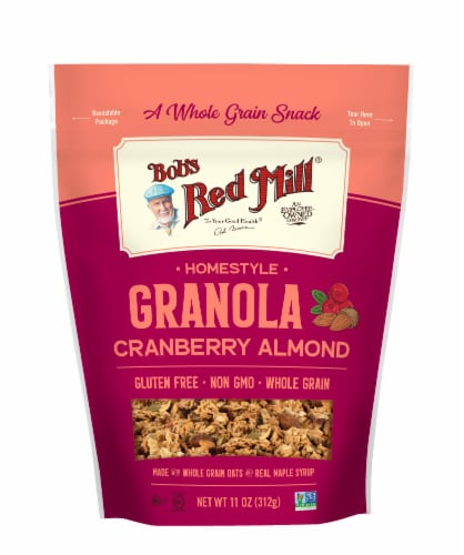Bob's Red Mill Cranberry Almond Granola Perspective: front