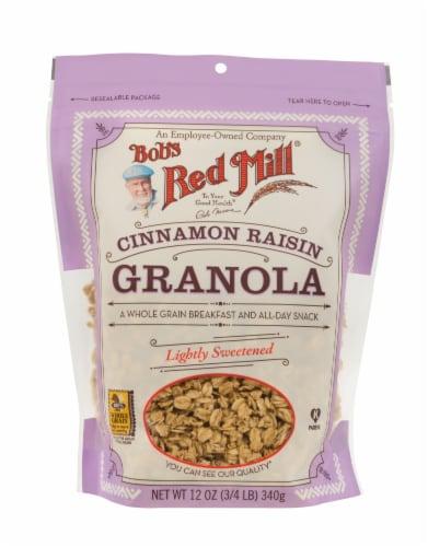 Bob's Red Mill Cinnamon Raisin Granola Perspective: front