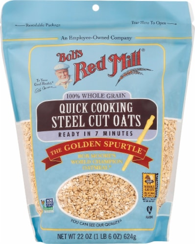 Bob's Red Mill Quick Cooking Steel Cut Oats Perspective: front