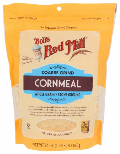 Bob's Red Mill Coarse Grind Cornmeal Perspective: front
