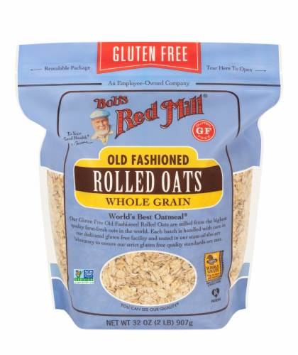 Bob's Red Mill Gluten Free Old Fashioned Whole Grain Rolled Oats Perspective: front