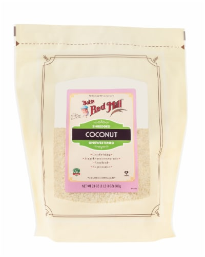 Bob's Red Mill Shredded Unsweetened Coconut Perspective: front