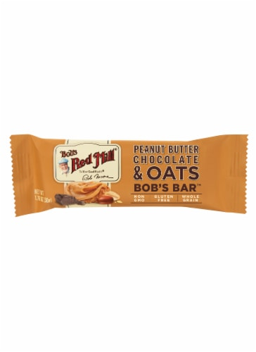 Bob's Red Mill Peanut Butter Chocolate & Oats Bar 1 Count Perspective: front