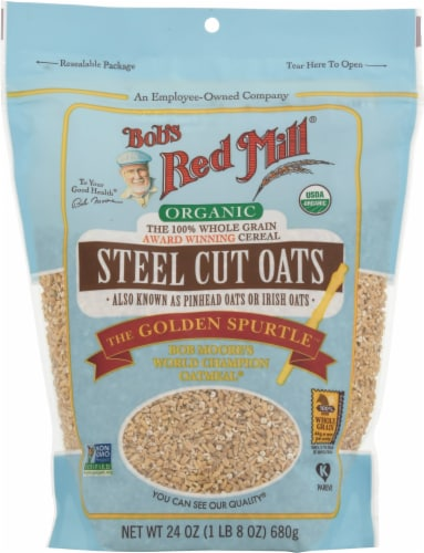Bob's Red Mill Organic Steel Cut Oats Perspective: front