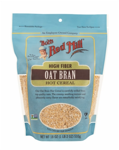 Bob's Red Mill High Fiber Hot Cereal Oat Bran Perspective: front