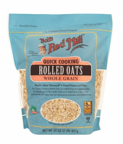 Bob's Red Mill Quick Cooking Whole Grain Rolled Oats Perspective: front