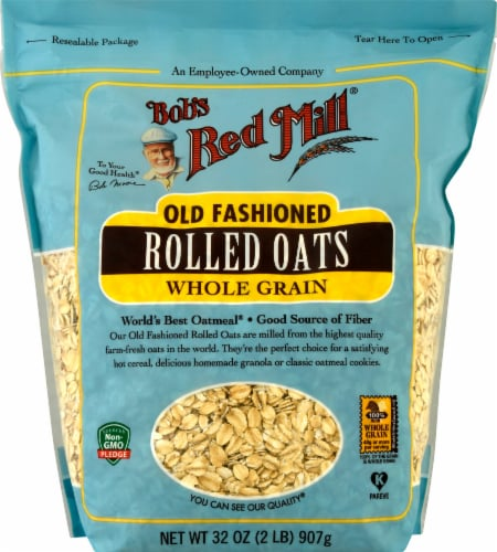 Bob's Red Mill Old Fashioned Whole Grain Rolled Oats Perspective: front