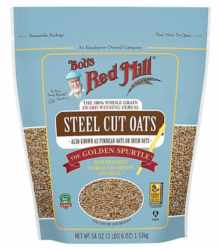Bob's Red Mill Steel Cut Oats Perspective: front