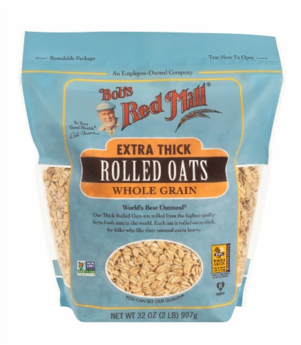 Bob's Red Mill Extra Thick Whole Grain Rolled Oats Perspective: front