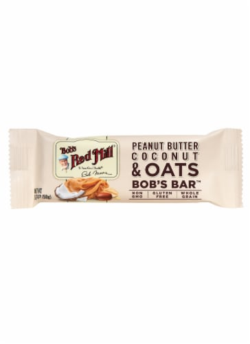 Bob's Red Mill Peanut Butter Coconut and Oats Bar Perspective: front
