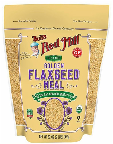 Bob's Red Mill Organic Golden Flaxseed Meal Perspective: front