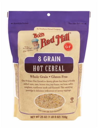 Bob's Red Mill Gluten Free 8 Grain Hot Cereal Perspective: front