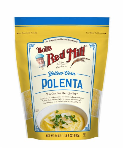 Bob's Red Mill Yellow Corn Grits Polenta Perspective: front