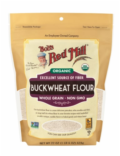 Bob's Red Mill Organic Buckwheat Flour Perspective: front