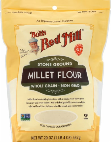 Bob's Red Mill Stone Ground Whole Grain Millet Flour Perspective: front