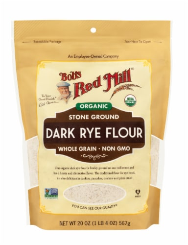 Bob's Red Mill Organic Dark Rye Flour Perspective: front