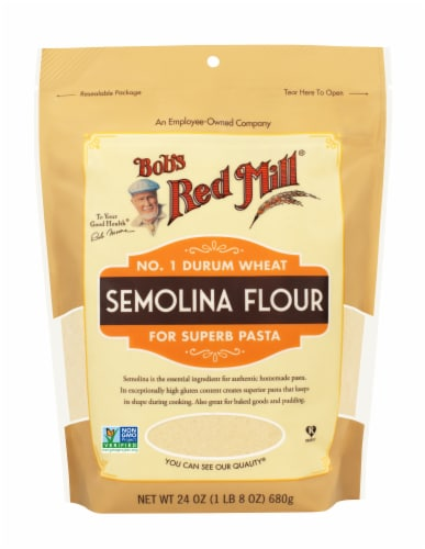 Bob's Red Mill Semolina Flour Perspective: front