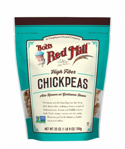 Bob's Red Mill High Fiber Chickpeas Perspective: front