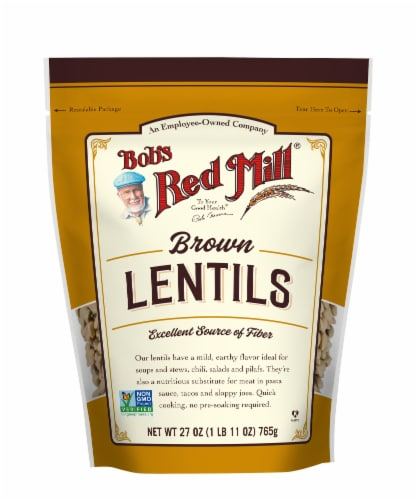 Bob's Red Mill Brown Lentils Perspective: front