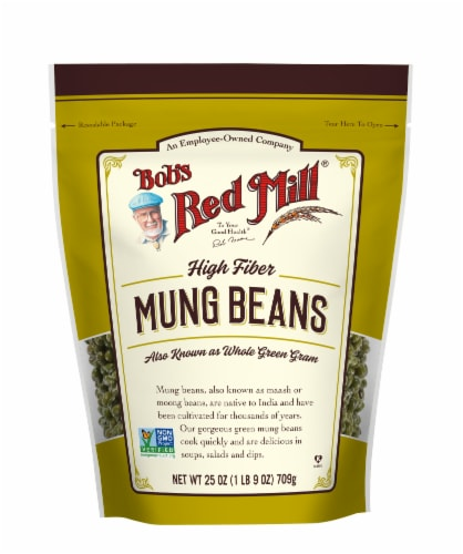 Bob's Red Mill High Fiber Mung Beans Perspective: front