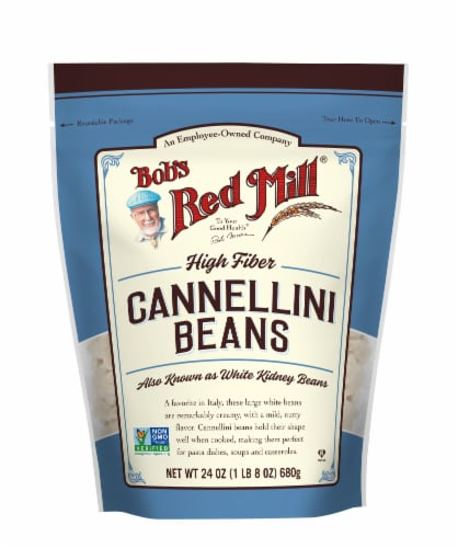 Bob's Red Mill Cannellini Beans Perspective: front