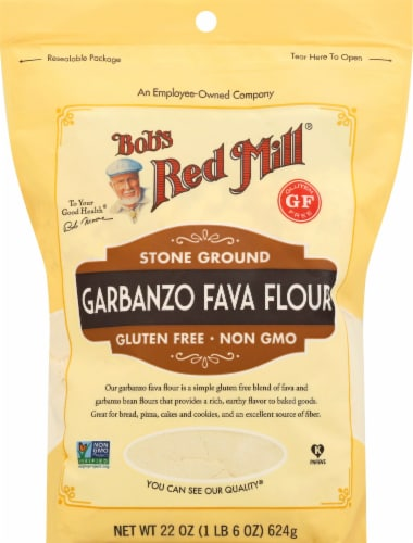 Bob's Red Mill Stone Ground Garbanzo Fava Flour Perspective: front