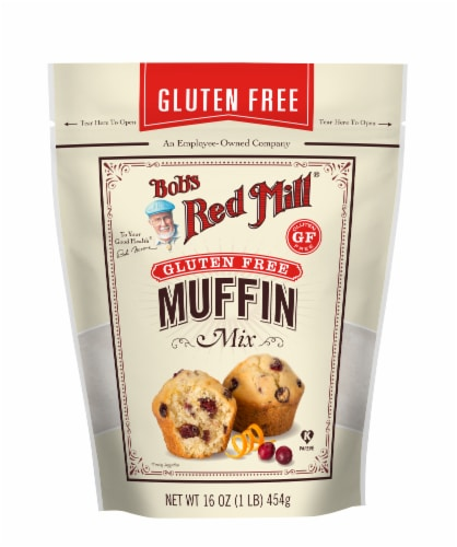 Bob's Red Mill Gluten Free Muffin Mix Perspective: front