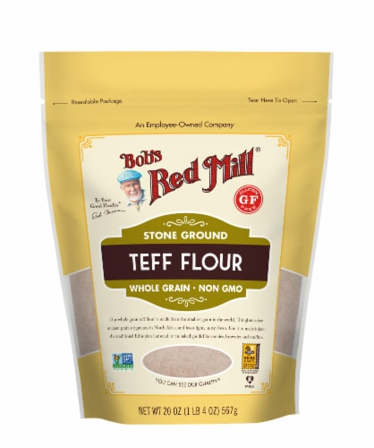 Bob's Red Mill Whole Grain Teff Flour Perspective: front