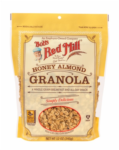 Bob's Red Mill Honey Almond Granola Perspective: front