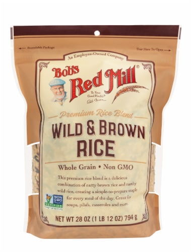 Bob's Red Mill Wild And Brown Rice Mix Perspective: front