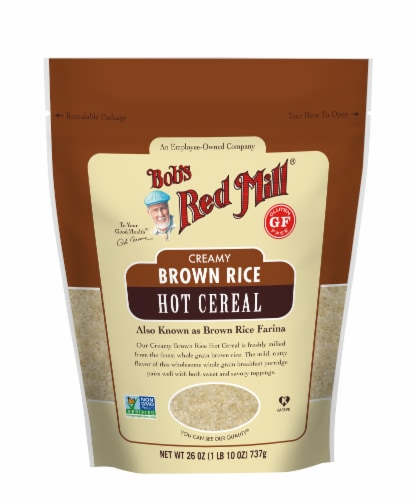 Bob's Red Mill Creamy Brown Rice Farina Hot Cereal Perspective: front