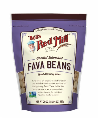 Bob's Red Mill Shelled & Blanched Fava Beans Perspective: front